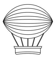 vintage hot air balloon icon outline style vector image