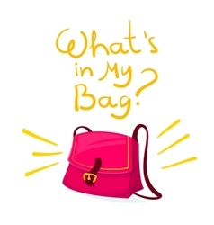 What is in my bag vector image vector image