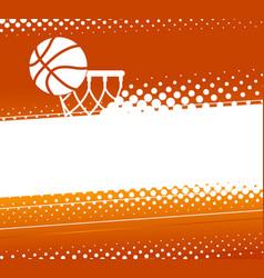 basketball background vector image
