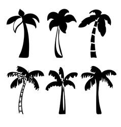 palm icon sketch collection cartoon vector image vector image