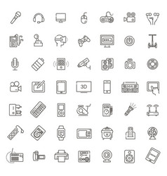set of smart devices and gadgets computer vector image