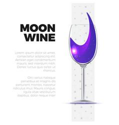 wineglass vector image vector image