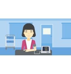 Blood pressure measurement vector image vector image
