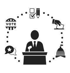 Election icons collection vector