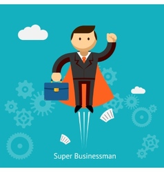 Flying Super Businessman Cartoon vector image vector image