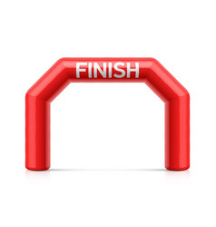inflatable finish line arch red inflatable vector image vector image