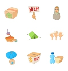 People fugitives icons set cartoon style vector
