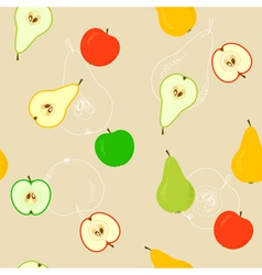 Seamless With Apples And Pears vector image vector image