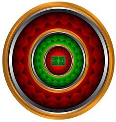 Abstract icon football subject vector