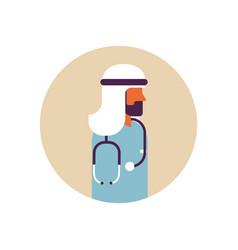 arab man medical doctor stethoscope healthcare vector image