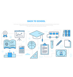 Back to school concept with icon set template vector