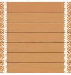 background wooden with ethnical decoration vector image