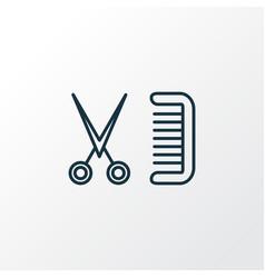 barbershop icon line symbol premium quality vector image