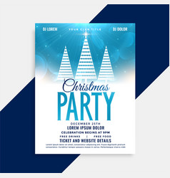 beautiful christmas party flyer template with vector image