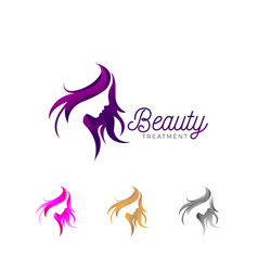 beauty treatment business logo template vector image