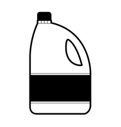 Black sections silhouette of bleach clothes bottle vector