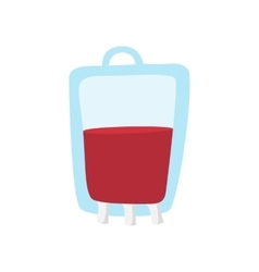 Blood bag cartoon icon vector