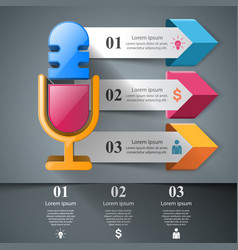 Business - microphone infographic vector