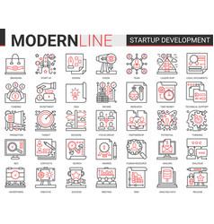 business startup development technology complex vector image