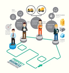 Business target board game line concept infographi vector