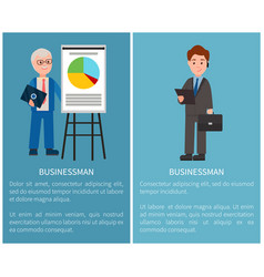 Businessman set of posters vector