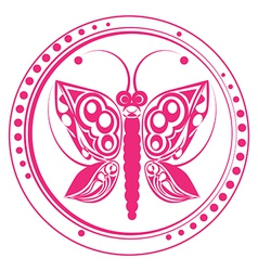Butterfly stamp vector