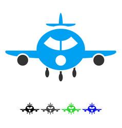 Cargo aircraft flat icon vector