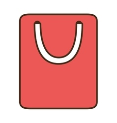 cartoon bag gift paper shop online symbol vector image