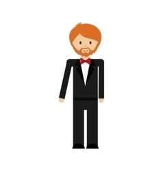 cartoon suit man avatar person icon vector image