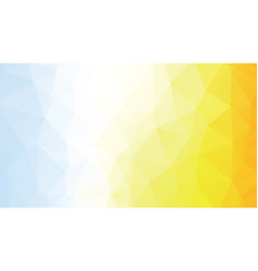 colorful geometric polygonal blue yellow vector image