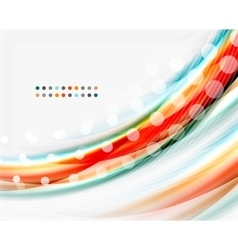 Colorful modern wave line business abstract vector
