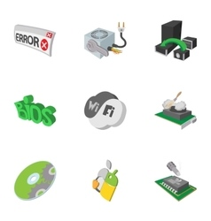 Computer repair icons set cartoon style vector image