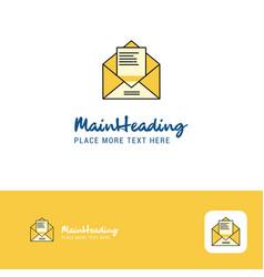 creative letter logo design flat color logo place vector image