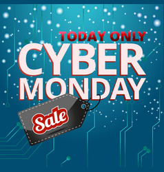 design cyber monday graphics for the site vector image