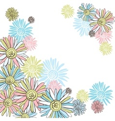 Design of decorative chamomiles Flower background vector image