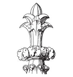 Early gothic finial 13th century three vector