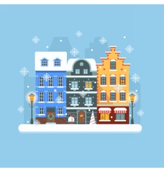 Europe Christmas Street vector image