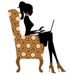 Fashion blogger vector