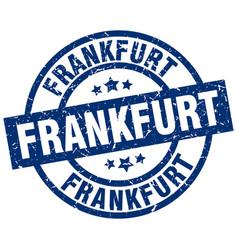 Frankfurt blue round grunge stamp vector