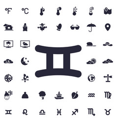 Gemini icon vector
