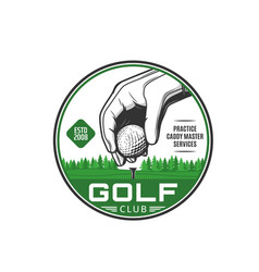 golf sport club services icon or emblem vector image