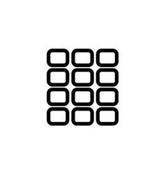 Grid square icon vector
