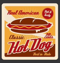 hot dog takeaway fast food snack vector image
