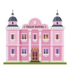 Hotel building vector image vector image