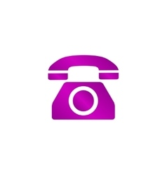 icon of a phone vector image
