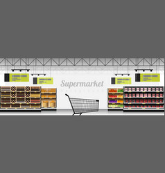 interior scene of modern supermarket vector image