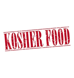 Kosher food red grunge vintage stamp isolated on vector