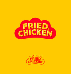 Logo chicken fast food restaurant rooster comb vector