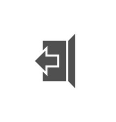 Logout arrow simple icon sign out vector