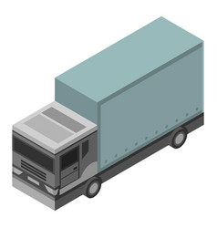 long truck icon isometric style vector image